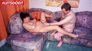 LETSDOEIT  Chubby German Redhead Granny Fucked By Neighbor