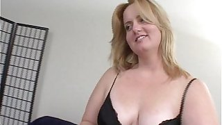 Blonde BBW gets ass fucked then facial
