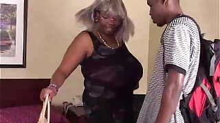 BBW Black Granny Has Big Tits
