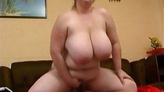 Big Tits BBW Sucks Huge Dick