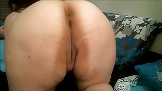 BBW anal toying on webcam