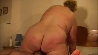 Big Amateur Grandma Enjoying A Cock