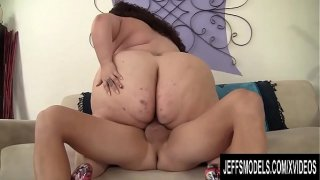 Horny BBW Jayden Heart Bouncing Her Humongous Ass While Riding Cock