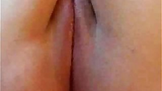 Fat Chubby Ex Girlfriend masturbating her shaved pussy